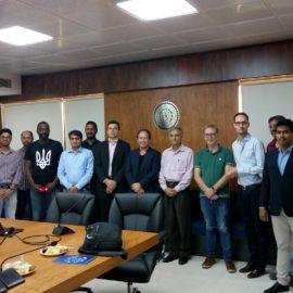 Ruhvenile group met French delegate at IIT Delhi